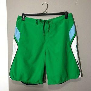 Men's Quiksilver Green Board Shorts 38